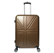 "20""24""inch british style the union flag rolling travel bag hardside spinner hand luggage suitcases"