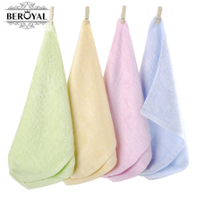 New 2017 -- 10pc/Lot 25*48cm Bamboo Hand Towel Baby Face Cloth Plain Dyed Children Bibs Soft Towels bathroom Brand Towel