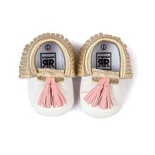 High Quality Baby Shoes Childish Shoes Infant Toddler Baby Boy Girl Tassel Soft Sole Prewalker Shoes Shoes White For Baby JY10(China)