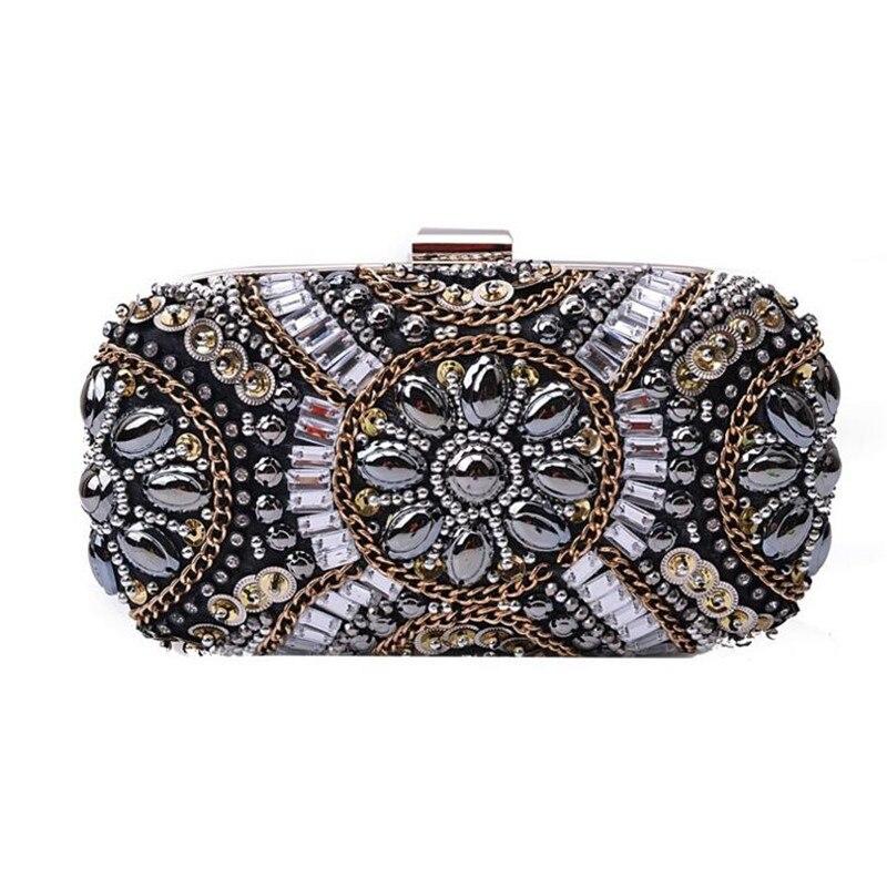 Dinner Clutch 2017 new factory sale hand-beaded evening bag banquet bags European and American clutch bag bride diamond purse<br><br>Aliexpress