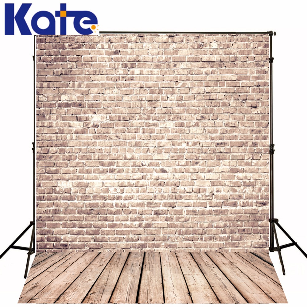 Kate Wood Background Brick Wall  Wood Floor Retro Photography Backdrops Wood For Children<br>