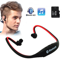 High Quality Sport Wireless Bluetooth Earphone SENBONO-9 Headset Earbuds for iPhone Samsung With Mic earphone for mart watch(China)