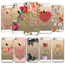 "Phone case cover For Apple iphone 6 6s 4.7"" Colorful Flowers Printed Soft Sillicon Transparent TPU Mobile Phone bags back cover"