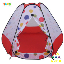 Red Outdoor Indoor Playhouse for Baby Baill Pit Foldable Tent 180*156*110CM