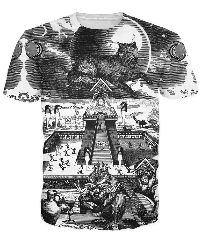 Grande-Temple-T-Shirt-Egyptian-Symbolism-Like-The-Eye-of-Horus-3d-Printed-T-Shirt-Women