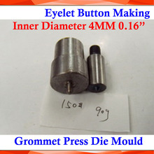 "BRAND NEW Metal Steel Die Mould Inner Diameter 4MM 0.16"" 150# for Manual Grommet Press Machine Button Banner Sign Making(China)"