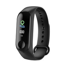M3C Smart Wristband Bracelet Band Heart Rate Blood Pressure Monitor Smart Bracelet Touch Screen Pulse Step Time Watch A35(China)
