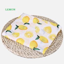 120x120cm Newborn Baby Cotton Fruit Plant Animal Soft Muslin Swaddle Shower Bath Towel Blanket Wrap Cloth Bedding Cover(China)