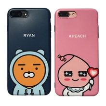 Korea new Ryan apeach muzi tube soft silicone case for iphone 7 6 6S plus soft Silicone cute cartoon Lion bear duck rabbit cover