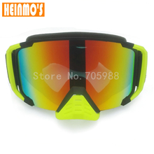 2017 Design motocross Motorbike goggles motorcycle glasses Eyewear Cycling Goggles with Nose helmet Glasses(China)
