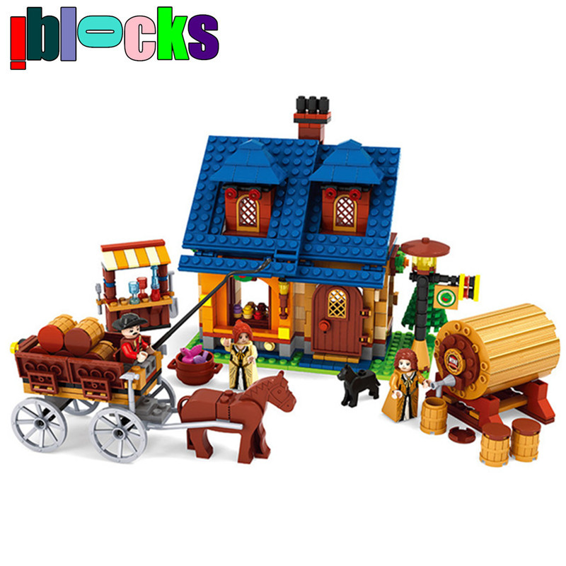 IBLOCKS Farm Winery Animals Figures Plastic Blocks Friends Figures Set Models &amp; Building Toy Learning Education For Children<br><br>Aliexpress