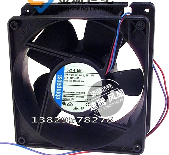 Original 5214 nn ebm [FAN AXIAL 127 x38mm 24 v 6.5 W 12738 fans<br>