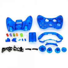 Blue Replacement Case Shell & Buttons Kit for Microsoft Xbox 360 Wireless Controller(China)