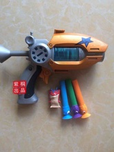 Hot Sale Cartoon Anime Slugterra Play Shot Gun Toy Give 3 Bullets 1 Slugterra Action Figure As Presents, Boy Toy Pistol Gun Gift