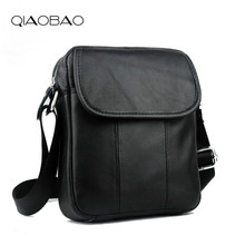 QIAOBAO Brand Leather Men Bags Fashion Male Messenger Bags Men's Small Briefcase Man Casual Crossbody Shoulder Handbag