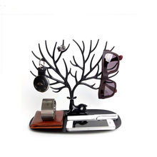 1pc Vogue Jewelry Necklace Earring Deer Stand Display Organizer Holder Show Rack Tree Stand
