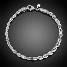 2016 Fashion New Women's Silver Plated Twist Bangle Cuff Charm Bracelet Clasp Party Jewelry  A6OK
