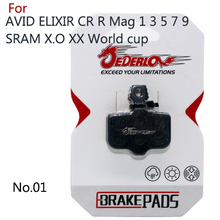 4 Pairs MTB Cycling Bike Bicycle Disc Brake Pads FOR AVID Elixir E1 /3/5/7/9 ER / CR SRAM xo xx 841 Hydraulic Wholesale JEDERLO(China)