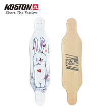 Koston Professional Longboard Deck 41 Inch Carving Style Deck 8ply Canadian Maple Hot Air Pressed Board Cruising Skateboard Deck(China)