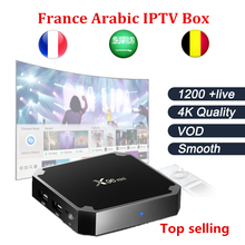French  Arabic IPTV BOX Android 7.1 tv Box X96MINI 4K 1200 live +VOD KO QHDTV best smart tv box free shipping one year iptv free