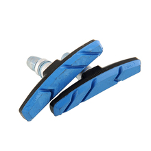 1 Pair Mountain Road Folding bike Brake pads Cycling Braking V-Brake Holder Shoes Rubber Blocks Durable Bicycle Accessories