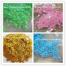 New Hot 20g 3mm Hollow Star Shape PVC loose Sequins Glitter Paillettes for Nail Art manicure/sewing/wedding decoration confetti(China)