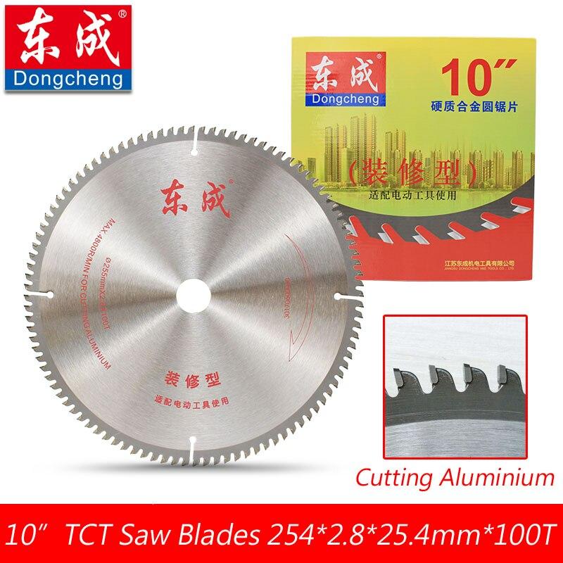 A+ Quality 10 120 Teeth TCT Circular Saw Blades Cutting Aluminium 254*2.8*25.4mm*100 Teeth Table Saw Blades Bore 25.4mm <br>