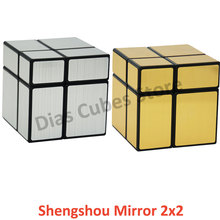 ShengShou Mirror 2X2 Magic Cube Puzzl Twisty Mirror 2x2 Puzzle Educational Toys Cubo Magico(China)