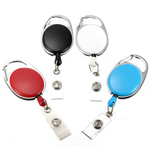 Top Gifts 1pc Retractable Pull Key Ring ID Badge Name Tag Cord Card Holder Reel Belt Clip Metal Housing Supplies Board Game