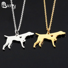 German Shorthaired Pointer Necklace Hollow Heart Dog Animal necklaces & pendants womens clothing accessories gift nc(China)