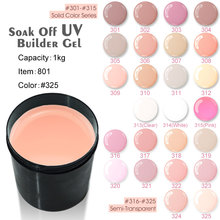 #801 canni factory supplier 25 colors 1000ml nail art camouflage hard jelly uv gel(China)