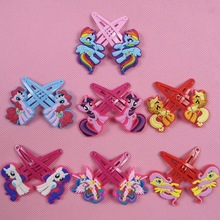 7pairs/lot Cute Animal Hair Clips for girls My little Ponys Cartoon Kids Ornaments Hairpins Hair Accessories Headdress