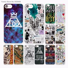 fashion Fall Out Boy bands logo Design hard White Skin Case Cover for Apple iPhone 7 6 6s Plus SE 5c 5 5s