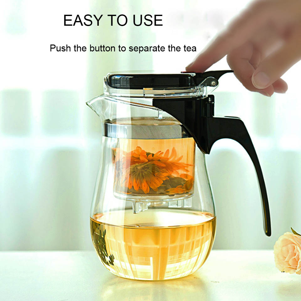 BORREY Heat Resistant Glass Teapot With Infuser Filter Chinese Kung Fu Puer Oolong Tea Teapot 500Ml Kamjove Tea Pot Water Kettle 8