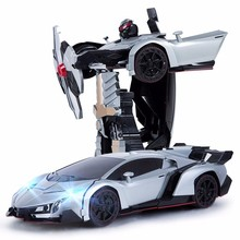 Hot Sales Models Deformation Robot  rc Toys sports model Transformation Remote Control Deformation Car toy Kids Gift lepin toys