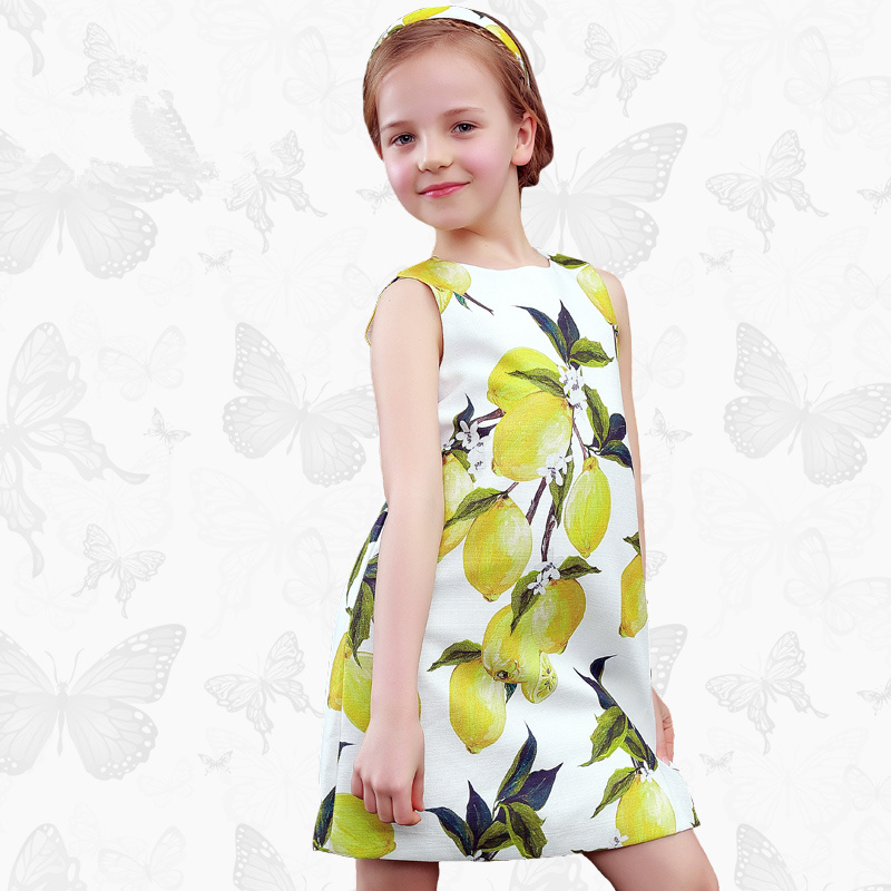 Toddler Girls Dresses Children Clothing 2017 Brand Princess Dress for Girls Clothes Fish Print Kids Beading Dress 1 14<br>