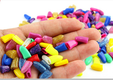 Hot Sale Lots 100pcs Crystal Series Soft Cat Pet Nail Caps Claw Control Paws off + 5pcs Adhesive Glue  safety Size XS S M L