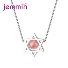 JEMMIN Charming Fashion Star Pendant Necklace 925 Sterling Silver Popular Women Engagement Anniversary Jewelry Best Gift(China)