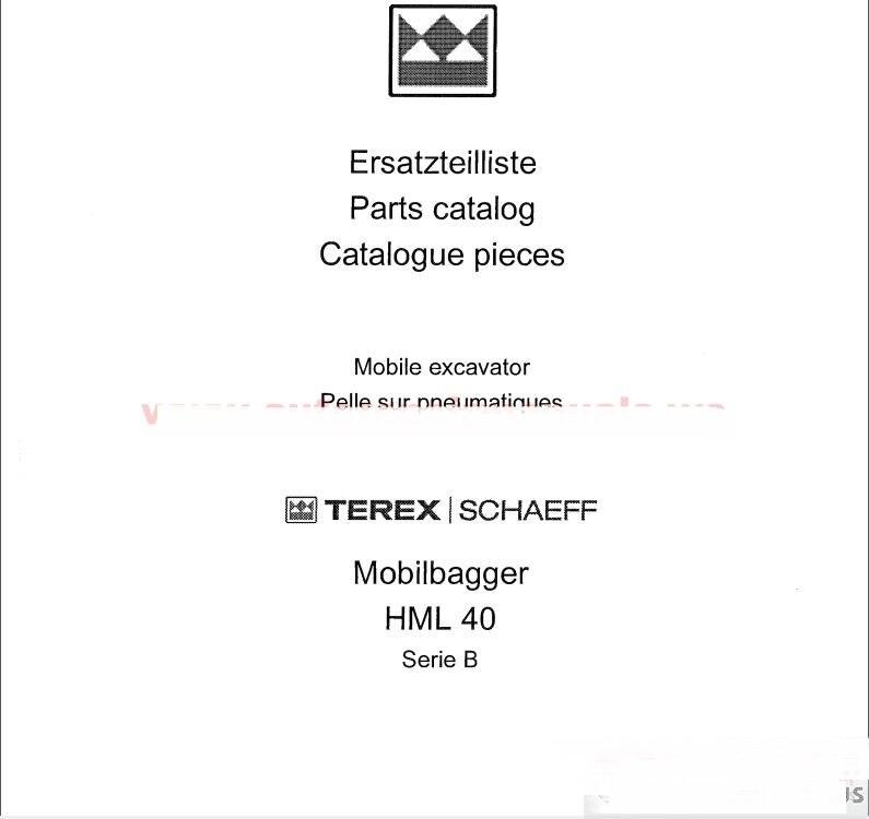 for Terex Schaeff All Part Manual<br><br>Aliexpress