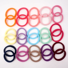 100 Pcs/pack Kids Hair Accessories Girls Hair Bands For Children Elastic Hair Ties Baby Rope Ponytail Holder(China)