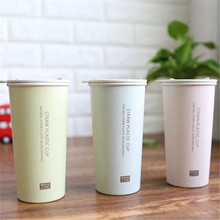 400ml/300l Hot Selling  milk of NATURAL Green Wheat Straw PLASTIC BIODEGRADABLE  Drinking coffee Mugs bpa free