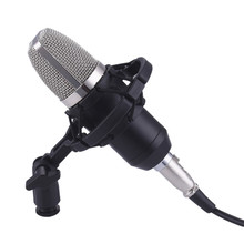 Excelvan BM-700 Cardioid Condenser Sound Studio Recording Broadcasting Microphone with Shock Mount Anti-Wind Foam Cap Power Cord