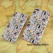 anime studio ghibli doodle design hard transparent clear Cover Case for Apple iPhone 7 6 6s Plus SE 4s 5s 5c