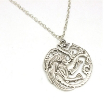 6pcs/lot European And American Jewelry Trade Of Original Single Long Movie Game Of Thrones Targaryen Dragon Alloy Necklace C057