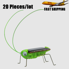 20pcs/lot Epacket Free Shipping Grasshopper Model Solar Toy Children Outside Toy Educational Toy Gifts for Kids Adults