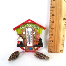 Swiss Cuckoo Clock Resin Fridge Magnet Refrigerator Magnetic Stickers Home Decoration Gift(China)