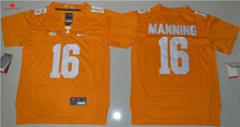 Nike 2016 Tennessee Volunteers Peyton Manning 16 College Limited Ice Hockey Jersey - Orange Size S,M,L,XL(China)