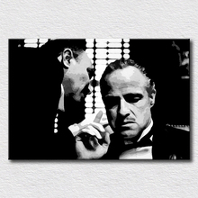 Godfather poster oil painting pop art pictures for bedroom decoration high quality wall art canvas