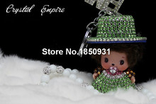 1PCS Manufacturer Luxury MONCHHICHI Wear Hat Car Key Ring Pendant Bag Ornament Decoration Accessory for Best Cute Creative Gift