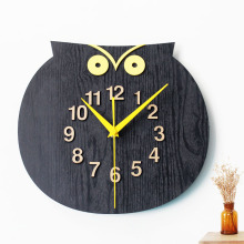 New Replacement electronic DIY wall clock mechanism design Home record vintage creative watch classic black owl number animal XM